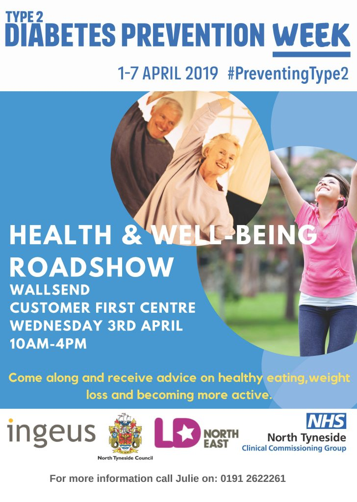 Health and wellbeing roadshow poster